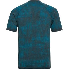 Odlo Blackcomb Pro T-Shirt Manches Courtes Col Ras-Du-Cou Homme, tumultuous sea/submerged